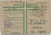 GB BRITISH MILITARY MAIL IN EGYPT 1942 George VI 5D (2x) cvr EGYPT 94 to England