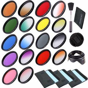 18pcs Filter Kit 67mm Full Color Filter & Graduated Color Filter For Camera Lens