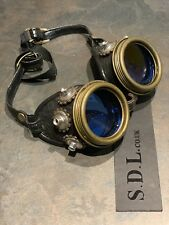 Steampunk Cosplay Rustic METALHandmade Goggles By SDL Embossed Sides Gear