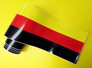 GERMAN FLAG race stripe 2 meters x 210mm gloss laminated decal sticker