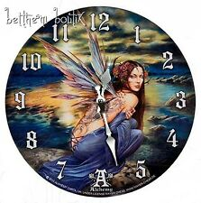 Goth Alchemy Grande Horloge Clock ronde Fée Tatouage Océan Sylundine Gothique
