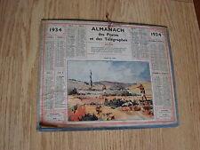 ALMANACH DES POSTES  ET TELEGRAPHES 1934 chasse au lapin