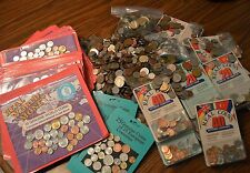 Dealer/Resale Lot of World Coins - 25lbs Mixed Loose Coins + Packaged Coins
