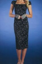 Womens PinUp Dress Fitted Wiggle Pencil Celebrity Stop Staring Black Dots Large