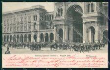 Milano Città Galleria Vittorio Emanuele Dazio Grano Moti 1898 cartolina RT5149