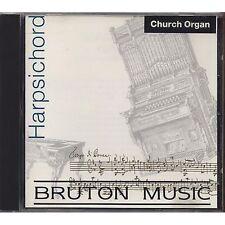 Church Organ - Harpsichord - Bruton Music - CD 1991 USATO OTTIME CONDIZIONI
