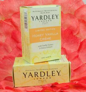 TWO Yardley London Honey Vanilla Creme Luxury Soap 4.25 oz Moisturizing Bar