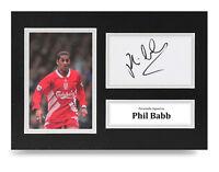 Phil Babb Signed A4 Photo Display Liverpool Autograph Memorabilia COA
