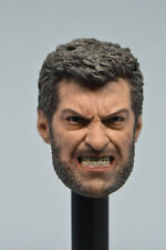 "ELEVEN 1/6 Wolverine Head Sculpt ANGRY LOGAN For 12"" Hot Toys Male Figure"