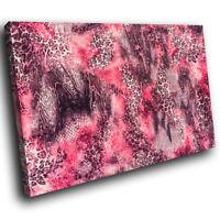 Pink Jaguar Fur Pattern Funky Animal Canvas Wall Art Large Picture Prints
