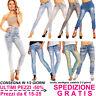 Jeans Donna Chiari Pantaloni Skinny Slim Fit Elasticizzati Stretch Moda Fashion