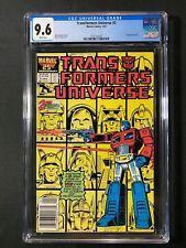 Transformers Universe #2 CGC 9.6 (1987) - RARE Newsstand Edition