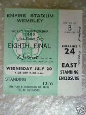 BIGLIETTO COPPA DEL MONDO 1966-Inghilterra/Francia, 20 Luglio (ORIGINALE * eccellente *)