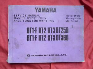 YAMAHA DT1-F DT2 DT3 DT250 RT1-F RT2 RT3 DT360 MANUEL D' ENTRETIEN 1973