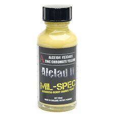 ALCLAD2, ALCE104, MIL-SPEC, ZINC CHROMATE YELLOW, ENAMEL MATT, FS33481