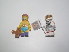 Lego ® Lot x2 Minifig Figurine Série 15 Cosmonaute + Champion Lutte NEW