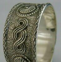 RARE CAST SCOTTISH SOLID STERLING SILVER CELTIC NAPKIN RING 1952 ARTS & CRAFTS