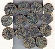Cincin 19,Great Nice Lot 14 coins Spain Whites of the Catholics Kings,