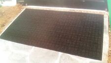 SCRAPER ENTRY MAT PARQUET DESIGN 3' x 5' HEAVY RECYCLED RUBBER MADE IN USA