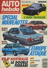 AUTO HEBDO n°600 du 18 Novembre 1987 GP AUSTRALIE AUDI TRANSAM
