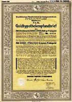Westfälisches Pfandbriefamt Bank Münster Gold Anleihe 1926 WestLB Düsseldorf