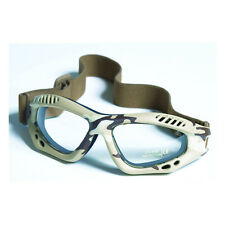 Commando AIR PRO Goggles - DESERT CAMOUFLAGE CLEAR Airsoft Paintball Army