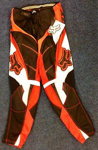 """Fox Racing - Kids Strafer MotoX Race Trouser  - Red/White/Black - 28"""" Waist"""