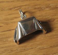 Nurse Cap Charm Pendant .925 Sterling Silver USA Made Nursing Medical Jewelry