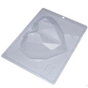 Large Diamond Breakable Heart/500 Grams/ 3 Piece Mold/Porto 62/BWB/Truffle Heart