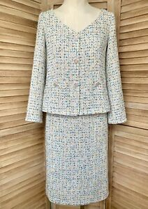 Classic wool tweed Chanel SKIRT SUIT RRP $5000+ Size 38