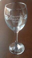 GERMAN SHEPHERD MUM ETCHED WINE GLASS CHRISTMAS GIFT PRESENT PAW GSD ALSATIAN
