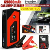 69800mAh 4 USB Car Jump Starter Pack Booster Battery Charger Power Bank 600A