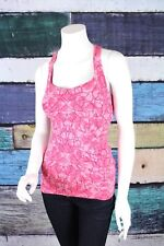 Lucy XS Lucypower Pink Geometric Built in Sports Bra Tank Top Yoga Athletic Gym