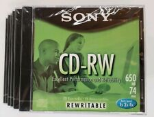 Sony CD-RW Blank CD Pack Of 6 SEALED Lot