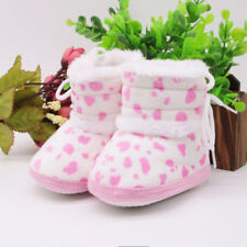 Baby Girls Soft Booties Snow Boots Pink