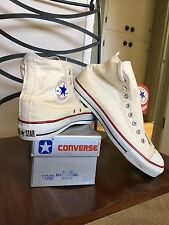 USA Vintage Converse Chuck Taylor's All Stars NEW-IN-BOX Sz 11.5 White Hi-Top
