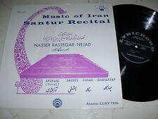 NASSER RASTEGAR-NEJAD Music of Iran SANTUR RECITAL 60s VINYL LP