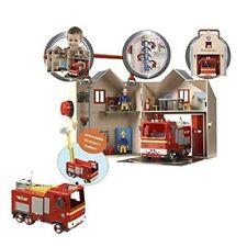 Fireman Sam Deluxe Fire Station & Fire Engine Jupiter Playset Bundle