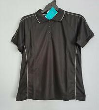 Biz Collection Ladies P9925 Resort Biz Cool Black Short Sleeve Polo Size 12 New