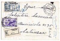 1952 - 30 Fiera Milano - lire 60 su raccomandata per Catanzaro