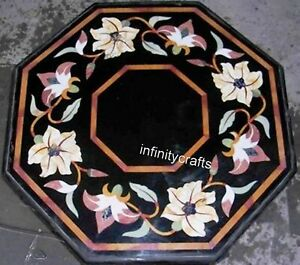 18 Inches Marble Coffee Table Top Mosaic Art Sofa Side Table for Home Furniture