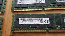 Barrettes de RAM 16Go DDR3-1866 PC3-14900R ECC 2RX4 Micron (Origine Serveurs HP)