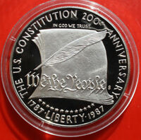 "USA-Amerika: 1989-S Silber Dollar, KM# 220, PP-PROOF, ""Constitution"", #F 1615"