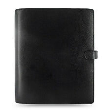 Filofax A5 Finsbury Organiser Planner Notebook Diary Black Leather -025368