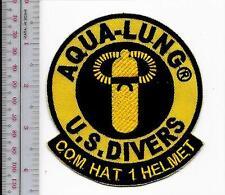 SCUBA Diving USA U.S. Divers Aqua-Lung Com Hat 1 Helmet Patch Los Angeles, CA
