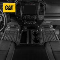 CAT® 4pc All Weather Truck Floor Mats Liner Set - Flex Tough Rubber Deep Channe