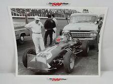 1963 Langhorne Speedway Sprints Photo 8x10 Bw Lot #08