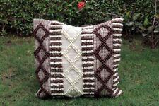 Bohemian 20 X 20 Handwoven Wool Rustic Rug Cushion Cover