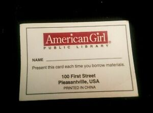 "American Girl 18"" Doll Ready For Fun Accessories Library Card Only 2004"