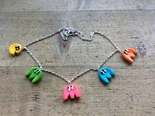 Necklace PAC Man 80s Fancy Dress Party Cool Retro Game Arcade Game Disco